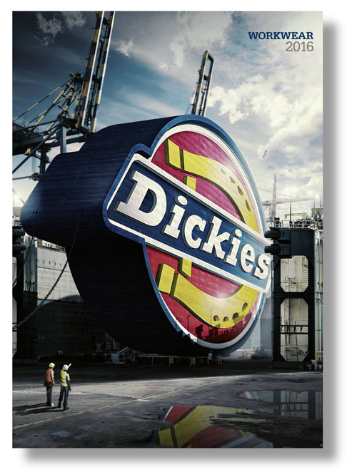 Cover of the 2016 Dickies workwear catalogue