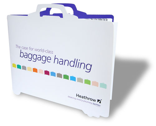 Brochure copywriting for a document about Heathrow's world-class baggage handling