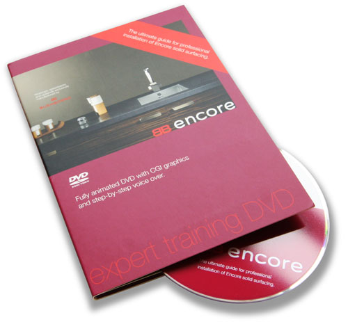Instruction copywriting and scriptwriting: installation DVD and packaging for Encore from Bushboard