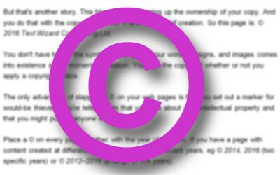 Copyright symbol for online copywriters