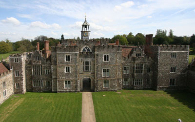 View towards the clock tower at Knole