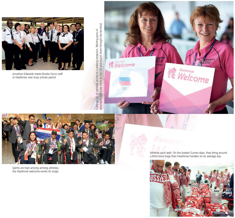 Extract from Heathrow's London 2012 souvenir photobook