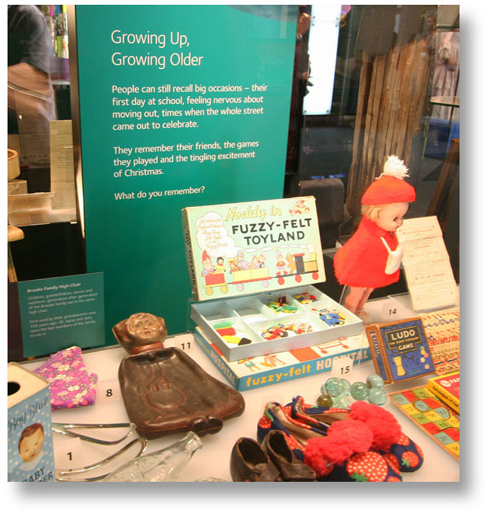Growing up, growing older exhibit at Experience Barnsley