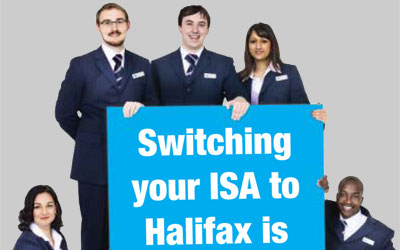 Detail from Halifax leaflet about ISA-switching