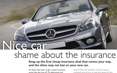 Extract from First Point advertorial showing a Mercedes