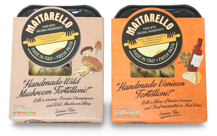 Two packs of Matarello pasta from the Fresh Pasta Company