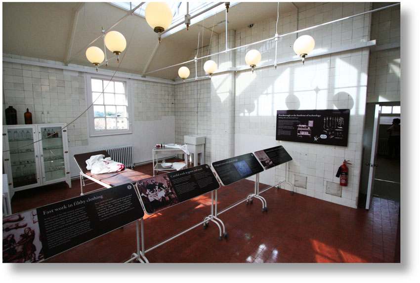 100-year-old operating theatre at the top of Peterborough Museum