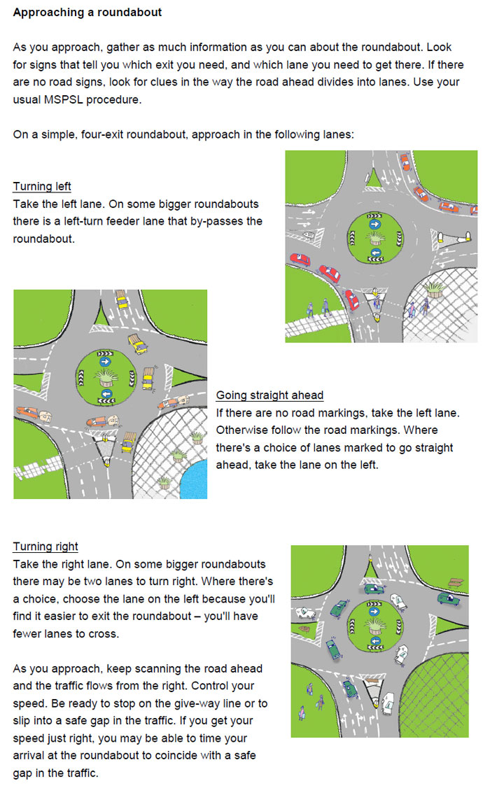 Part of Wimbledon Driving School's learning resources on roundabouts