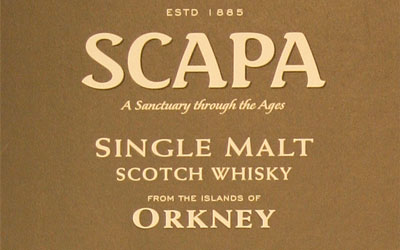 Detail from the Scapa single malt cardboard presentation tube