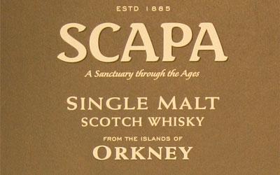 Detail from the Scapa single malt cardboard presentation tube