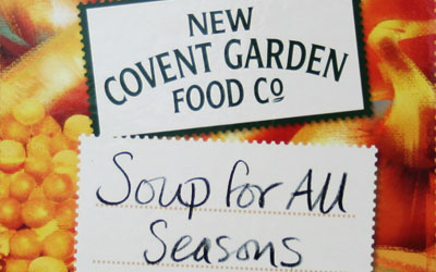 Detail from the cover of Soup for All Seasons from New Covent Garden Food Co