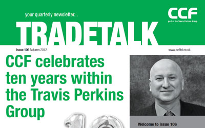Snapshot from the cover of the CCF TradeTalk newsletter
