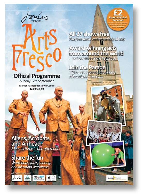 Cover from the Arts Fresco event programme