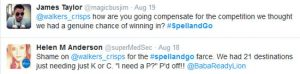 Tweets from disgruntled Spell and Go players