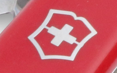 Victorinox logo on a Swiss Army Knife