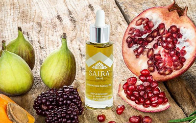 Saira Skin Hydrating Facial Oil with fruits