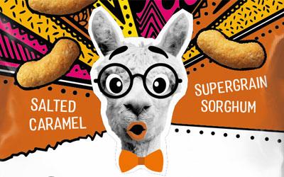 Surprised llama wearing glasses
