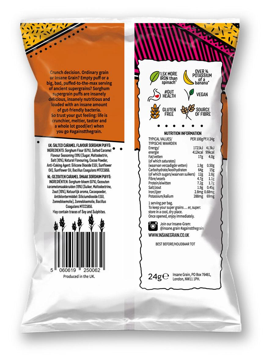 Packaging copywriter: Insane Grain back of pack